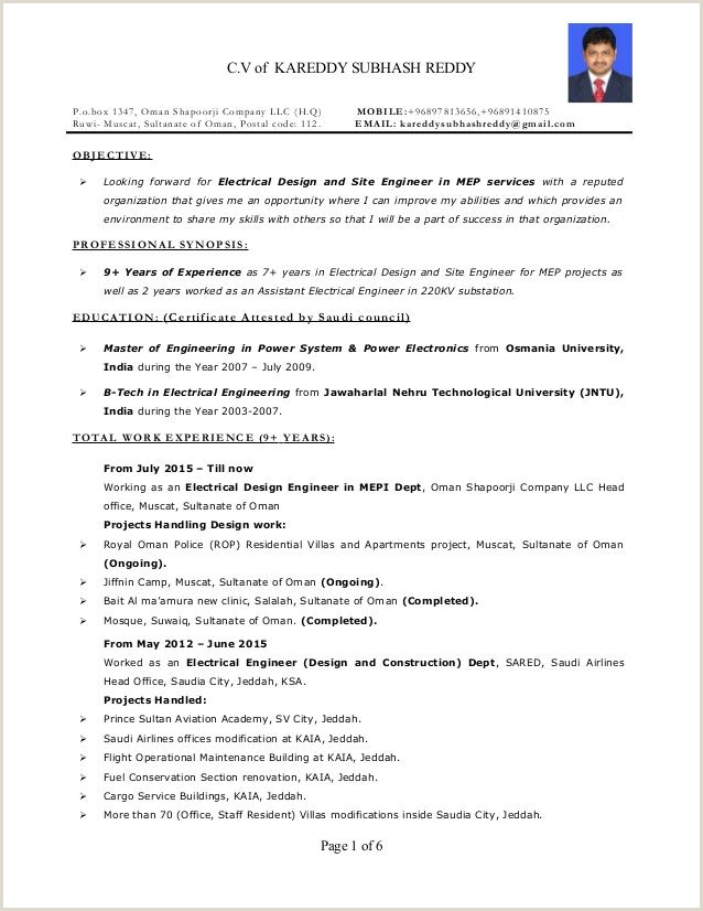 For 9 Year Experience 3 Resume Format