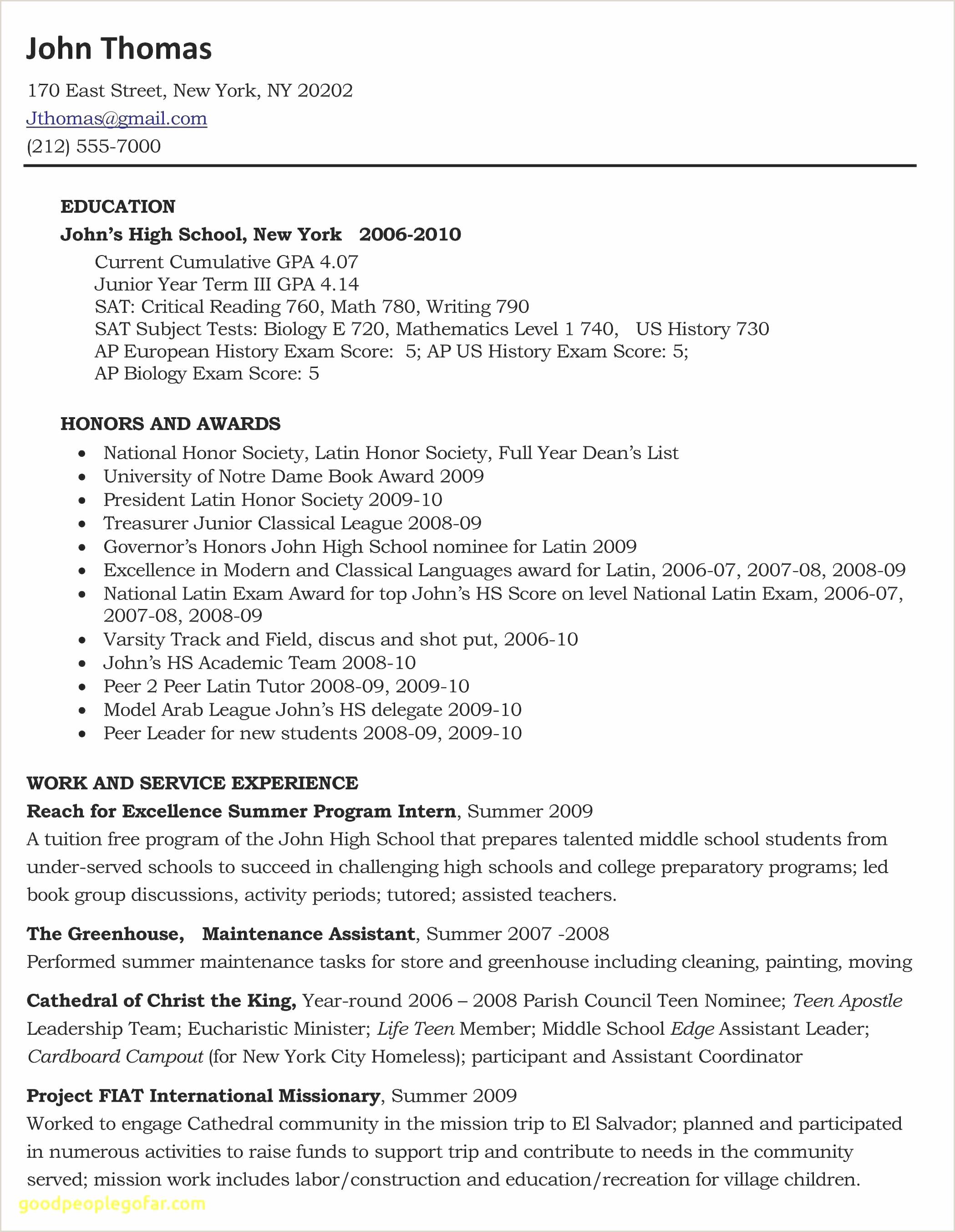 Sample Entry Level Resumes Fresh Resume Sample No Experience