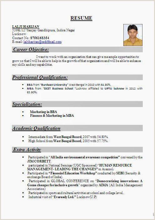 Fresher Cv Format Download Pdf Image Result For Resume Format Freshers