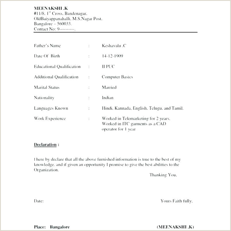 Fresher Cv Format Download Resume Format Template