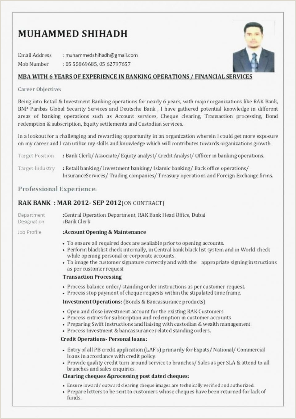 Fresher Cv format for Bank Job Banking Resume format for Experienced Samples In Refrence