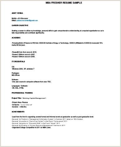 Fresher Cv format Pdf Sample Mba Resume 7 Examples In Word Pdf