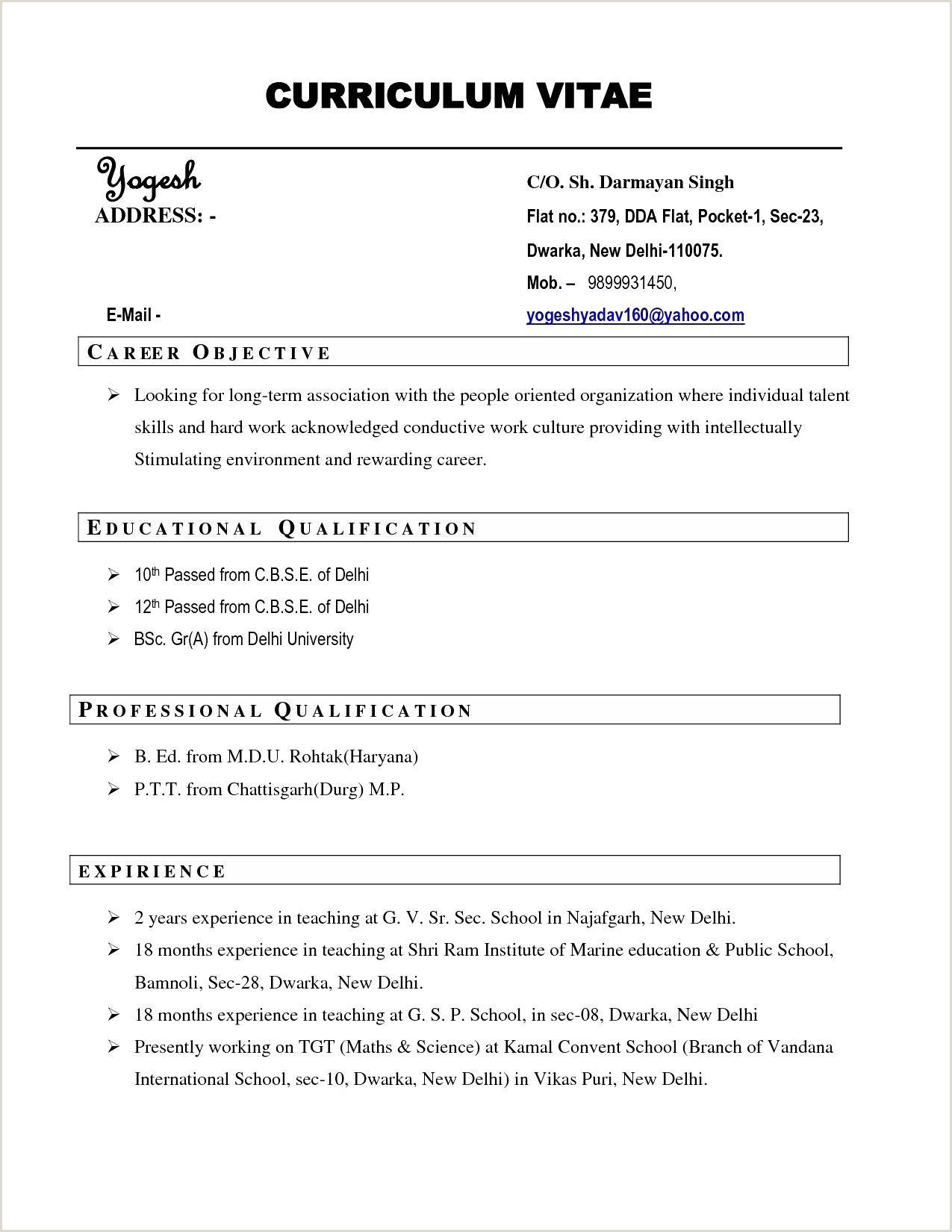 Fresher Cv format Sap Basis Fresher Resume format