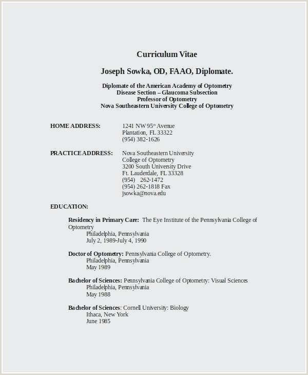 Fresher Cv Sample Doc 40 Awesome Curriculum Vitae Samples For Freshers
