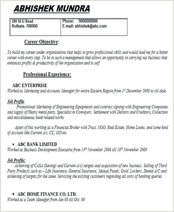Fresher Graduate Cv format Exemple De Cv Key Account Manager Bel Chef Resume Example