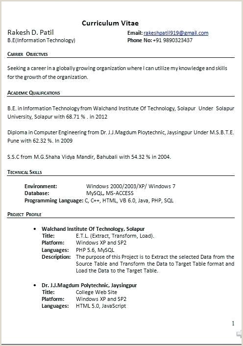 Fresher Java Resume Format Filetype Doc Sample Form Resume Bio For Freshers Testing Biodata