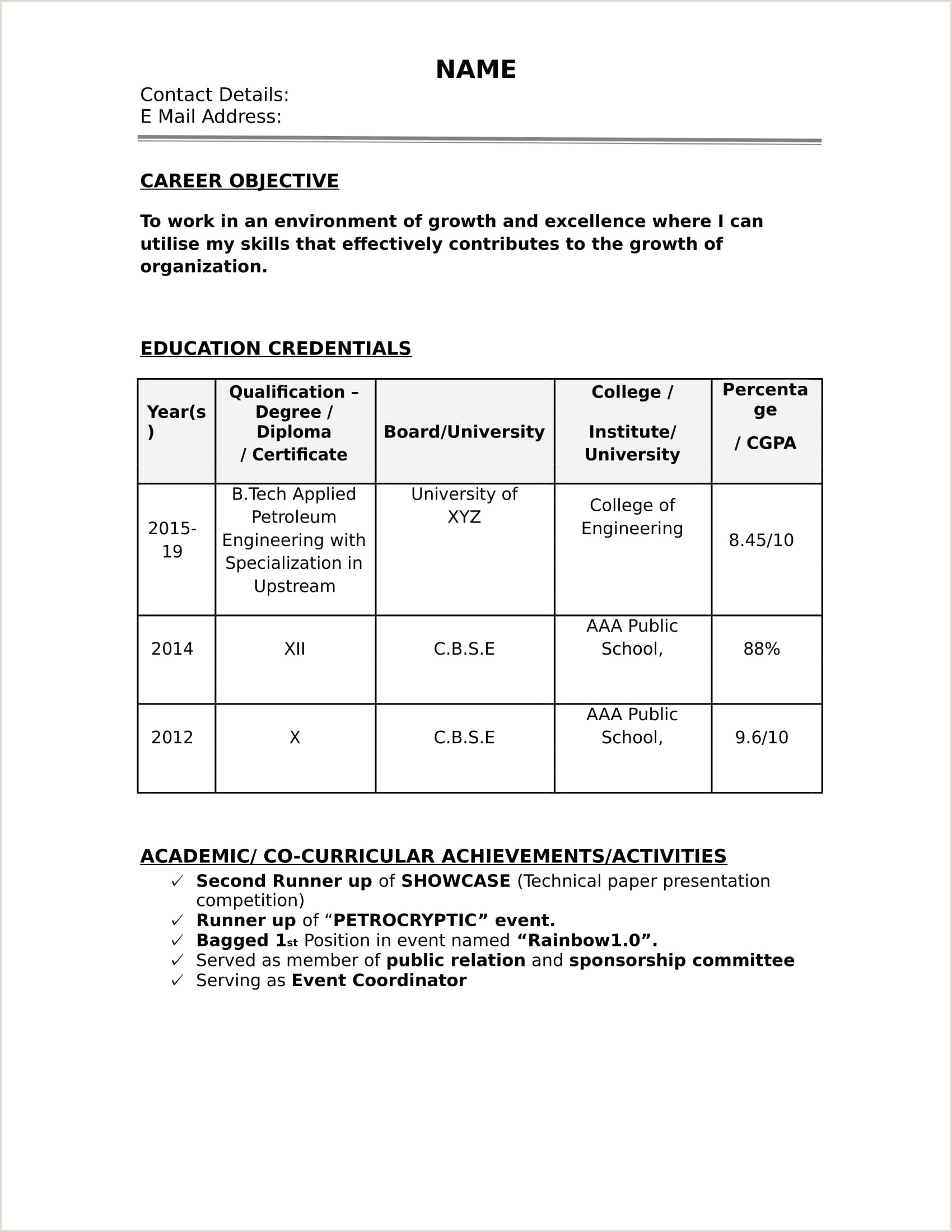 Fresher Job Cv format How Do You Create A Resume Digitalpromots to Make format