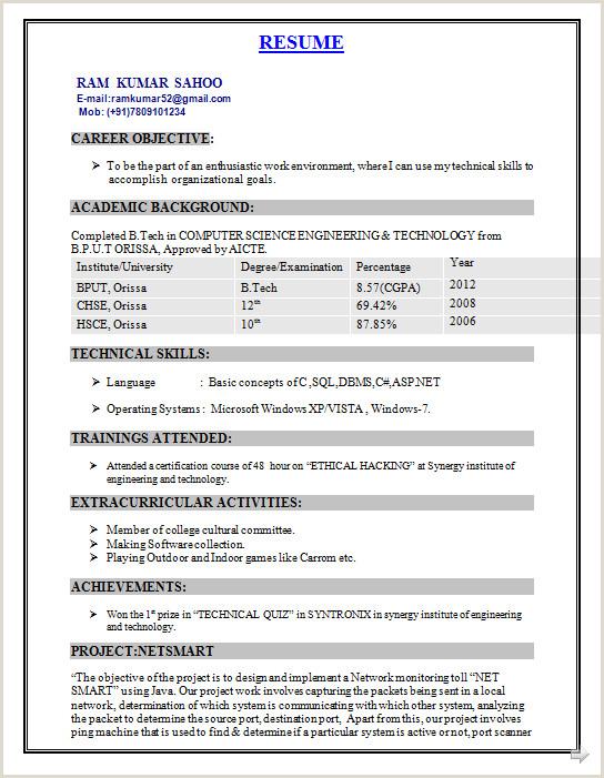 Fresher Resume format B.com B Tech Rohit Pant