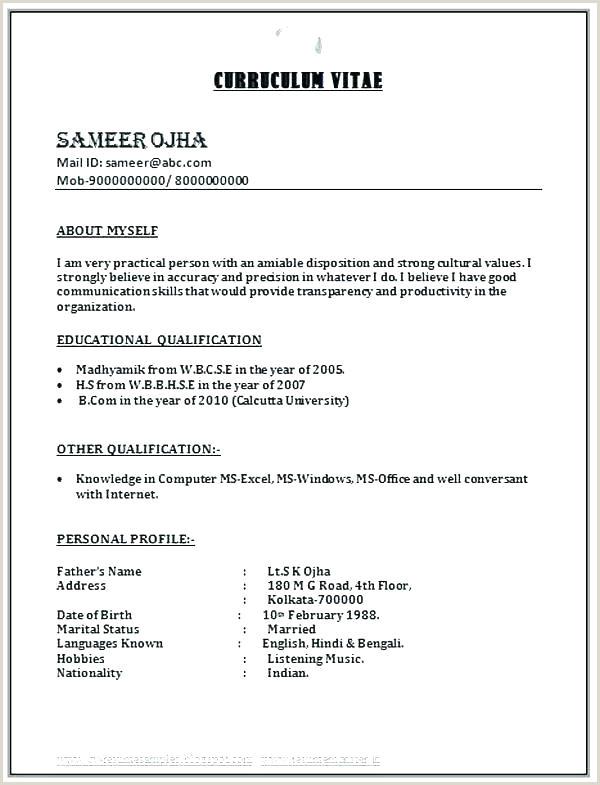 Fresher Resume format B.com College Student Resume for Internship Sample Download Best