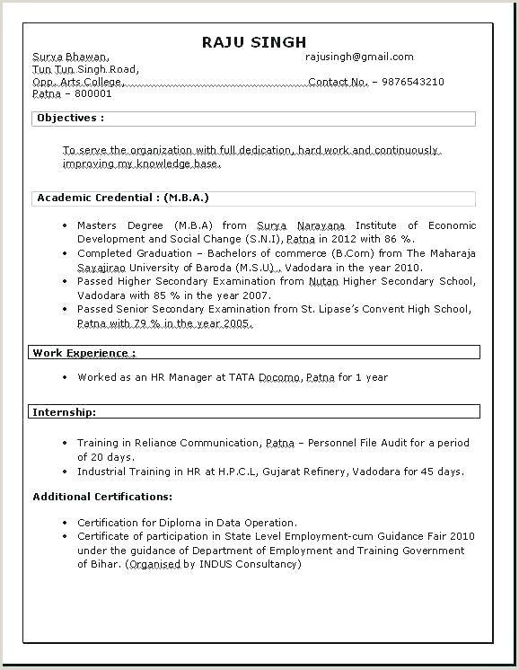 Fresher Resume format B.com Mba Finance Resume Sample – Joefitnessstore