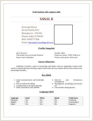 Fresher Resume format B.com Resume Sample for B Graduates Ghulam Mustafa