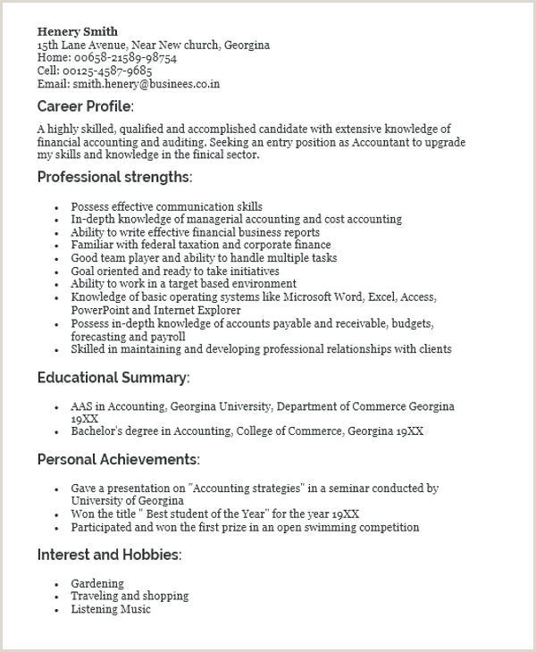 Fresher Resume Format Ba Freshers Resume Samples – Growthnotes