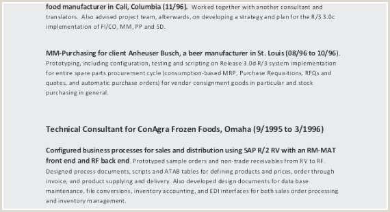 Fresher Resume Format Ba Sample Resume For Sap Pp New Sap Pp Fresher Resume