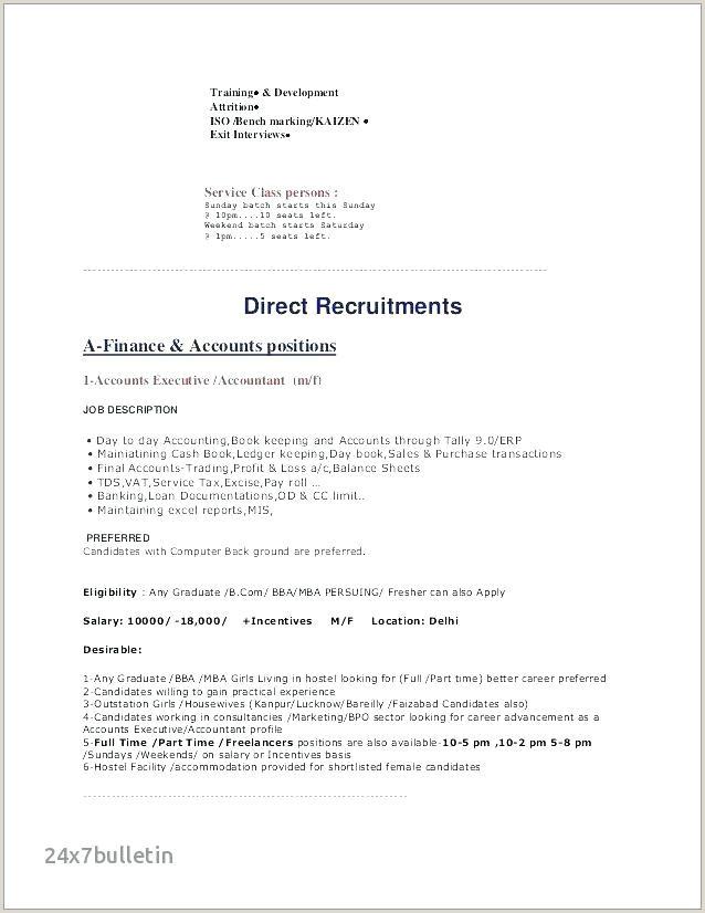 Fresher Resume Format Bcom Entry Level Cover Letter Sample
