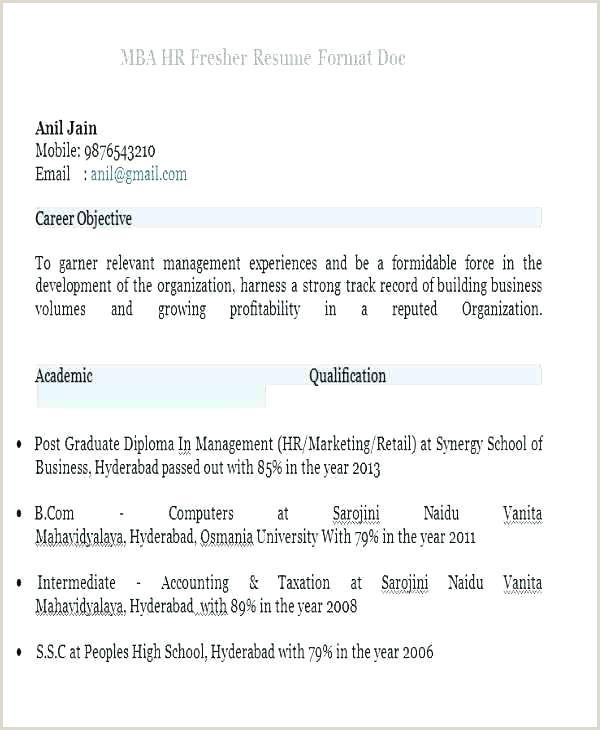 Fresher Resume Format Bcom Resume Format Fresher – Englishor