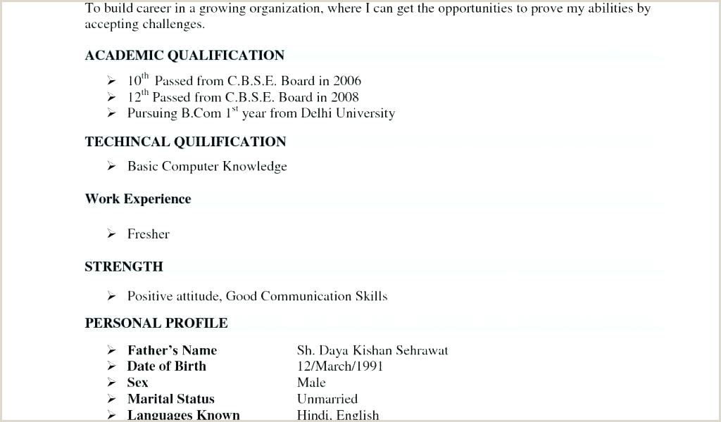 Fresher Resume format Bcom Simple Resume format for Freshers – Newskeyfo