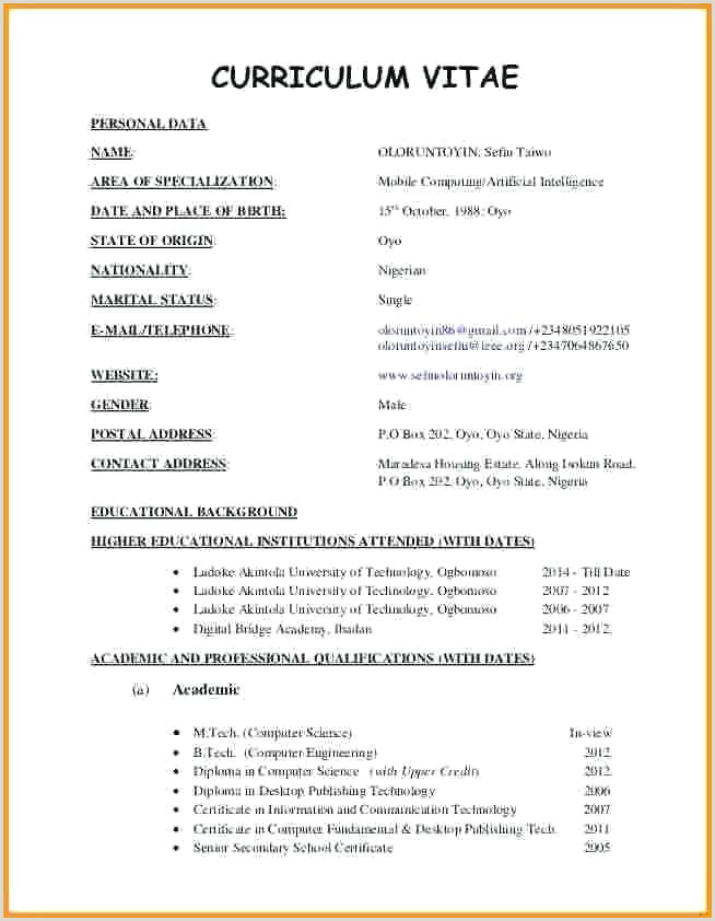 Fresher Resume Format Computer Science Engineers Word Document Template Resume Format For Freshers Fill In