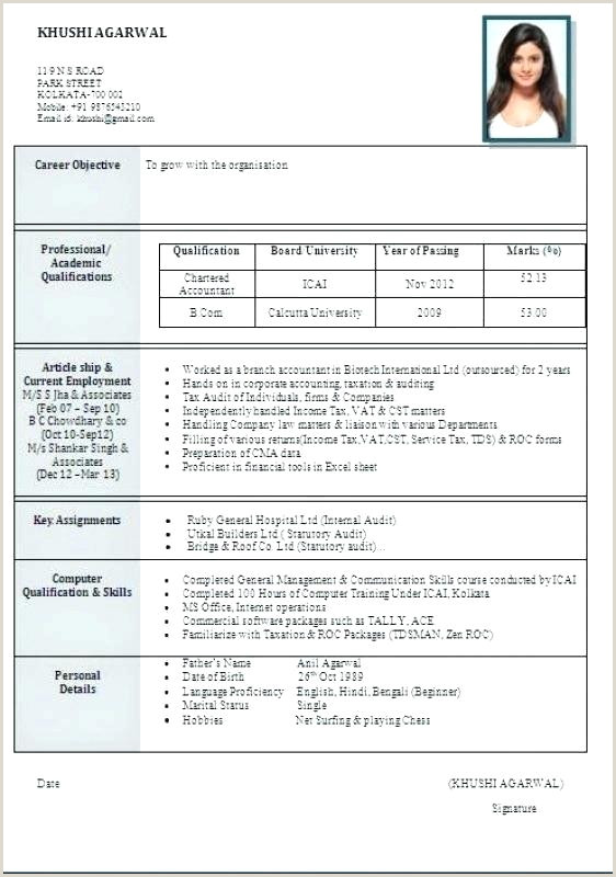 Fresher Resume format Doc Download Free Engineering Resume Template – Chanceinc