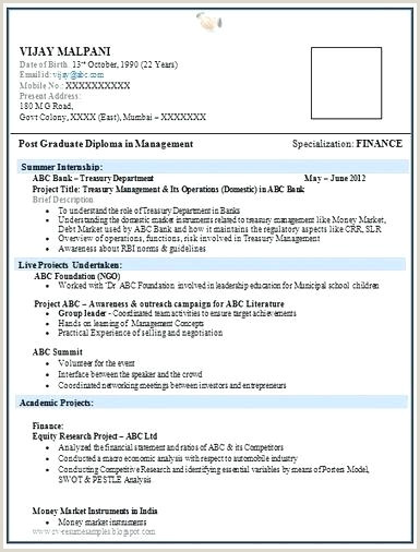 Fresher Resume Format Doc Free Download Freshers Resume Sample Doc Fresher Experienced For Templates