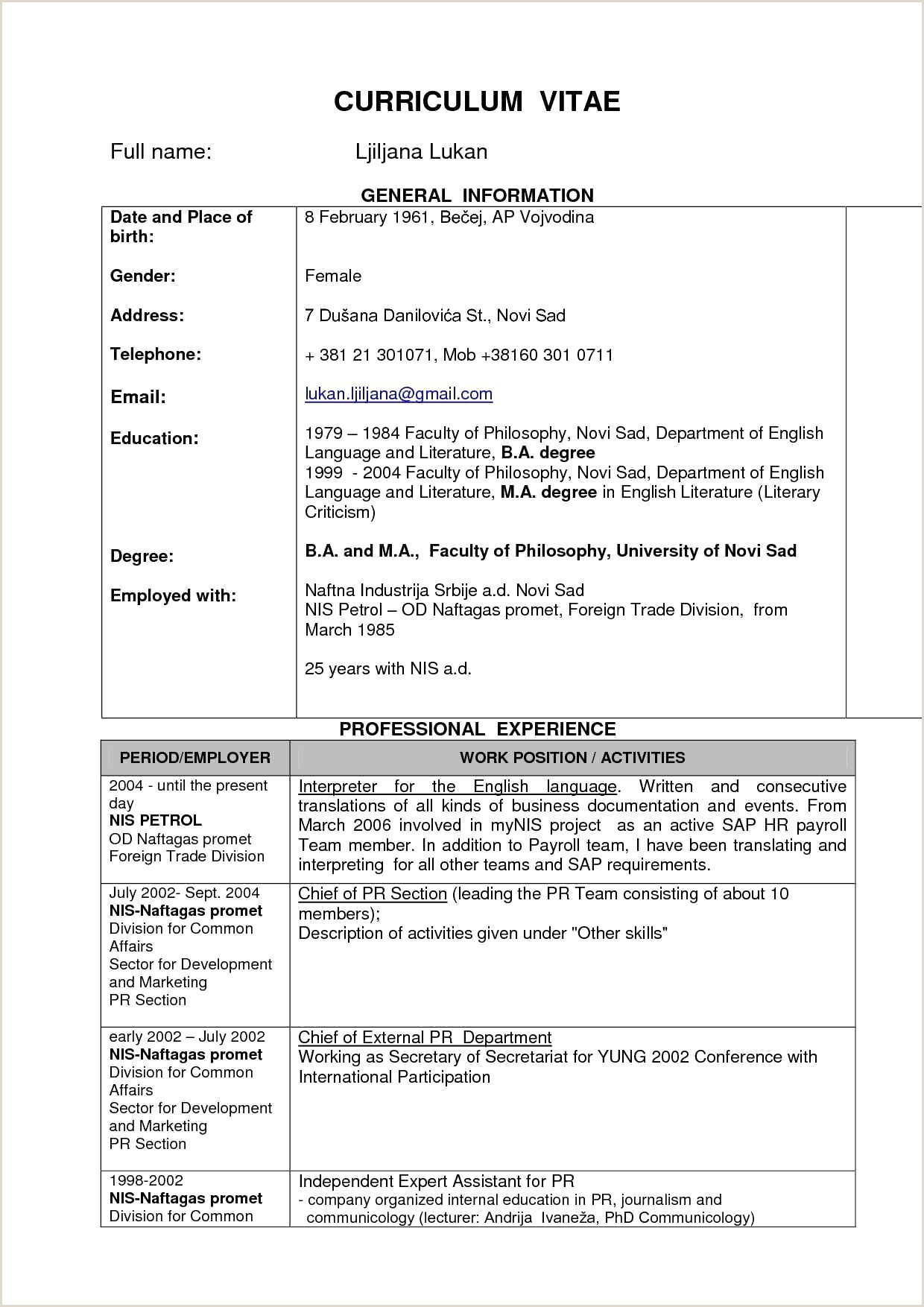 Fresher Resume Format Doc Free Download Sample Resume For Freshers Engineers Pdf Download New