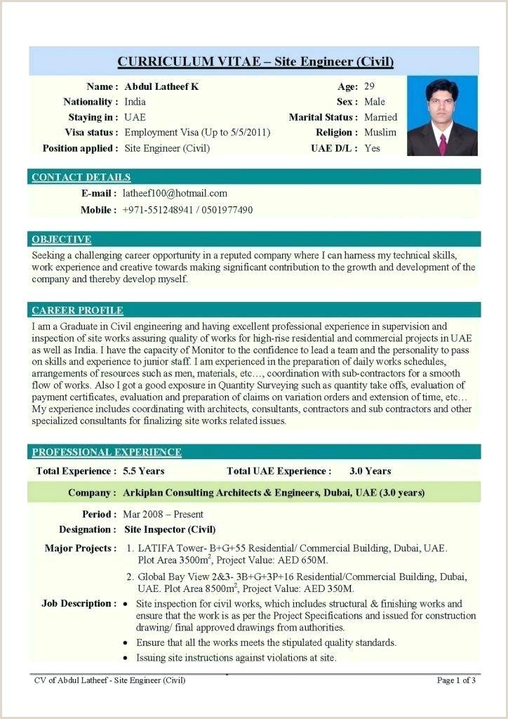 Fresher Resume Format Doc India Civil Engineering Resume Formats – Emelcotest