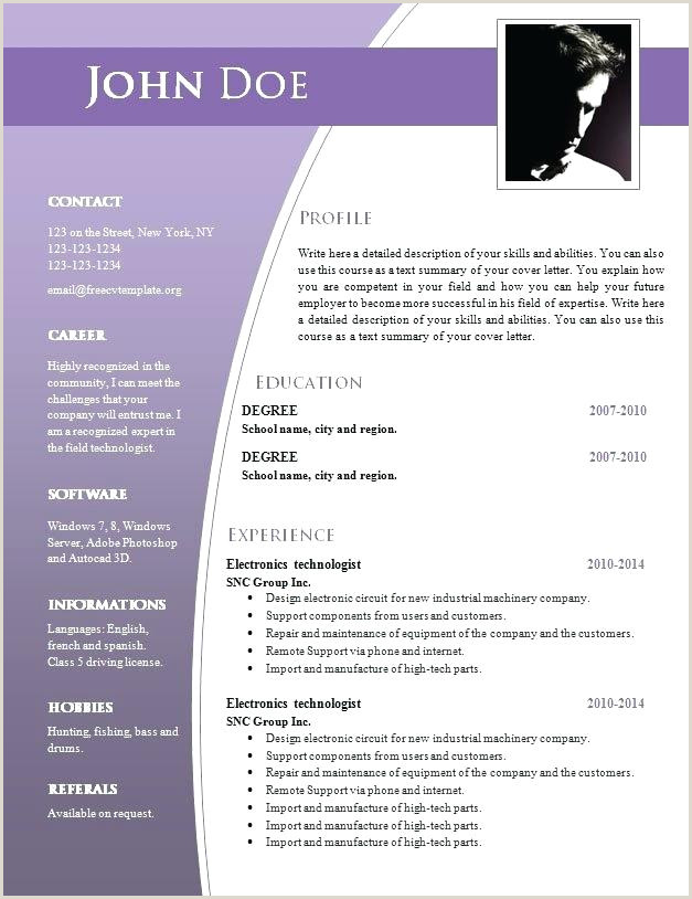 Fresher Resume format Docx 9 Best Free Resume Templates for Freshers and Doc Download
