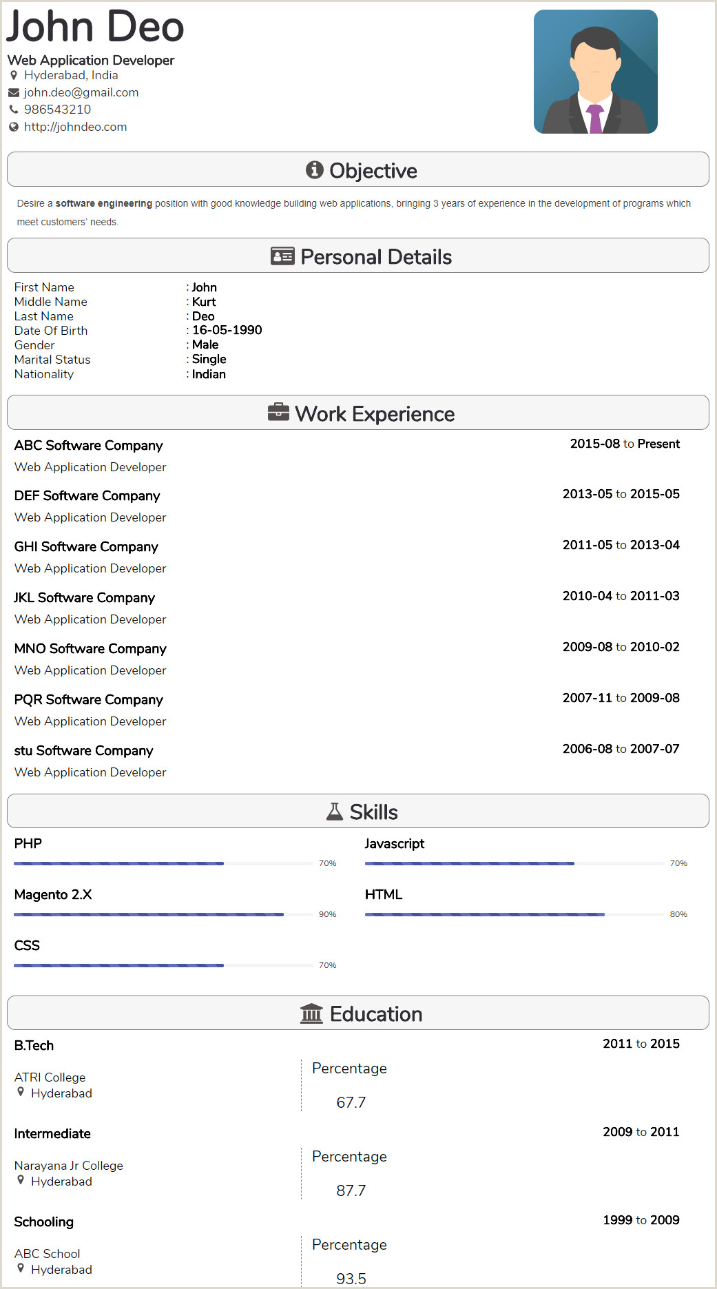 Fresher Resume Format Download In Ms Word 2007 Best Resume Proforma