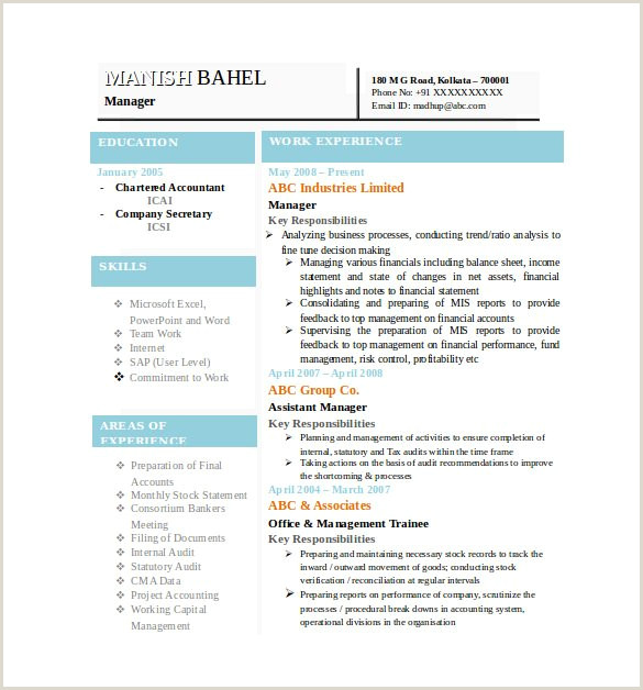 Fresher Resume format Download In Ms Word Download Microsoft Word Resume Template 49 Free Samples Examples