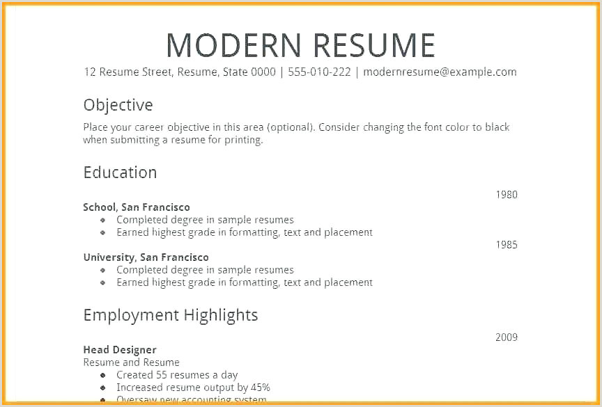 Fresher Resume format Download In Ms Word Download Simple Curriculum Vitae Template – Musacreative