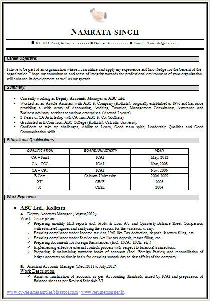 Fresher Resume format Download In Ms Word for B.com 40 New Resume format for Freshers In Ms Word
