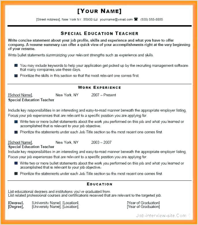 Fresher Resume format Download In Ms Word for Teacher Easy Resume format – Kinocosmo