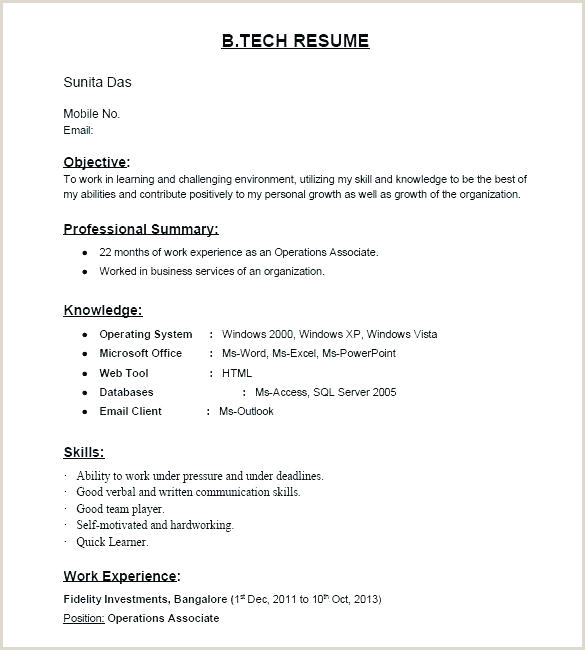 Fresher Resume Format Download In Ms Word For Teacher Sample Resume Format Download Word File In Free It Ms 2007