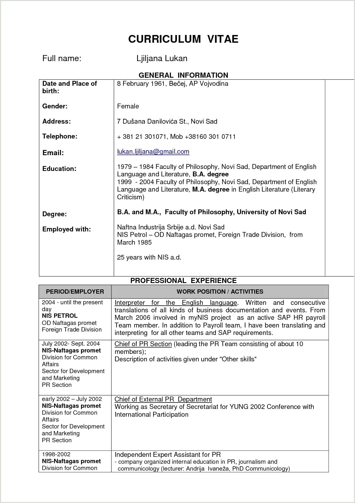 Fresher Resume format Download In Ms Word Free Download Simple Resume format for Freshers Free 13 Resume Sample for