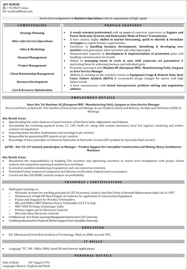 Fresher Resume format Download In Ms Word India Resume format for – Wikirian