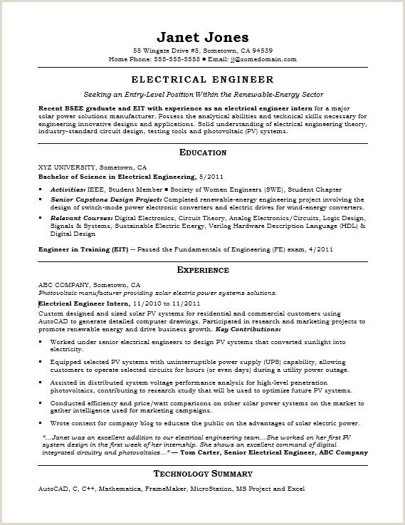 Fresher Resume Format Electrical Engineer Objective In Resume For Freshers – Paknts