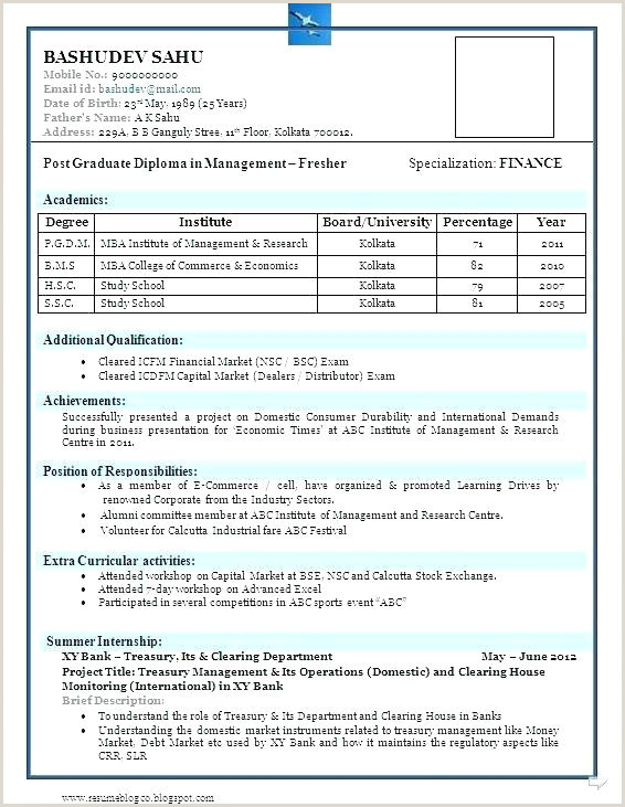 Fresher Resume format for 12th Pass Best format for Resumes – Paknts