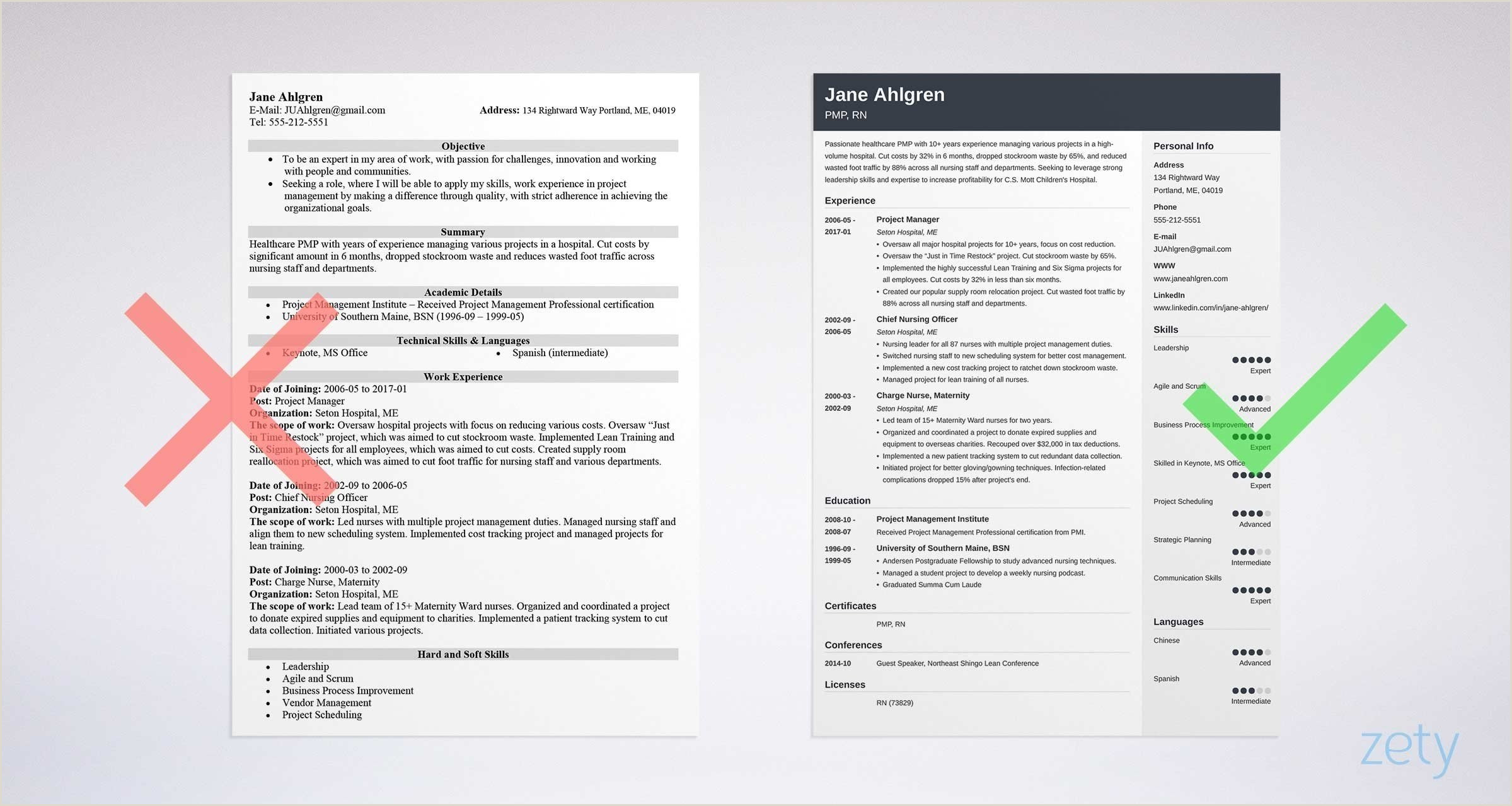 Fresher Resume format for 12th Pass Cv Vs Resume Difference Definitions & when to Use which