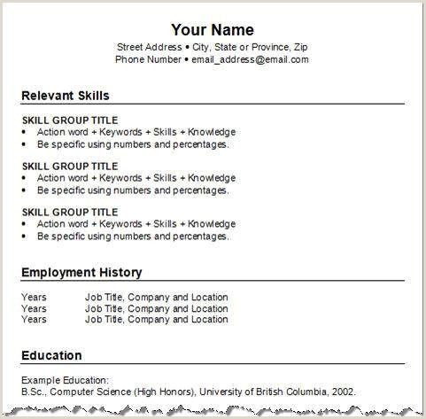Fresher Resume Format For B.sc B Sc Student Resume