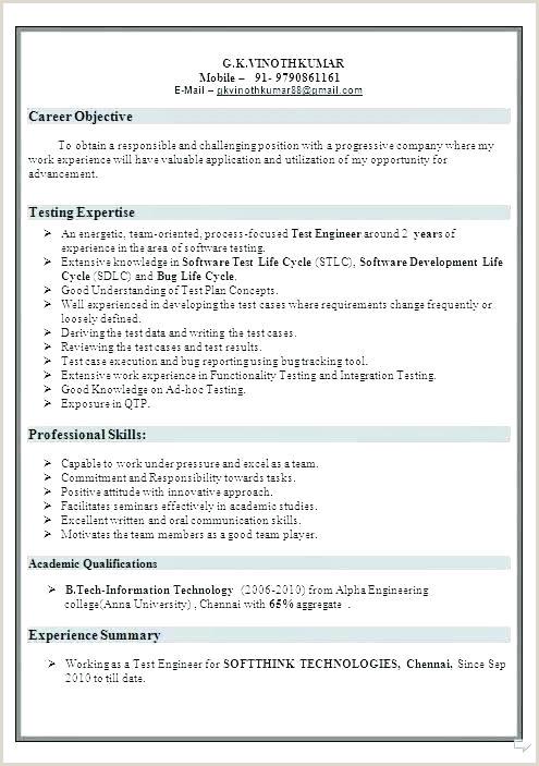 Fresher Resume Format For B.sc Freshers Resume Samples – Growthnotes