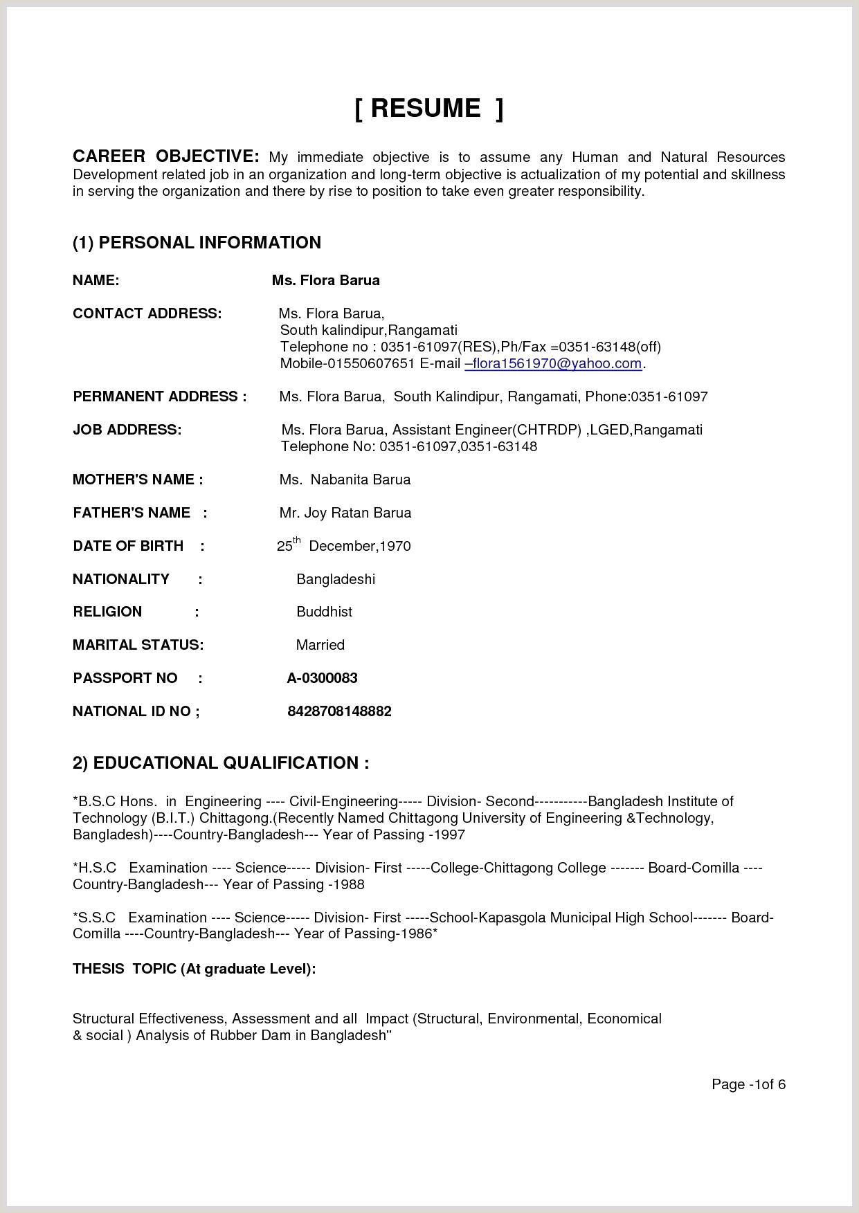 Fresher Resume Format For B.tech Civil Elegant Resume Sample For Civil Engineer Fresher