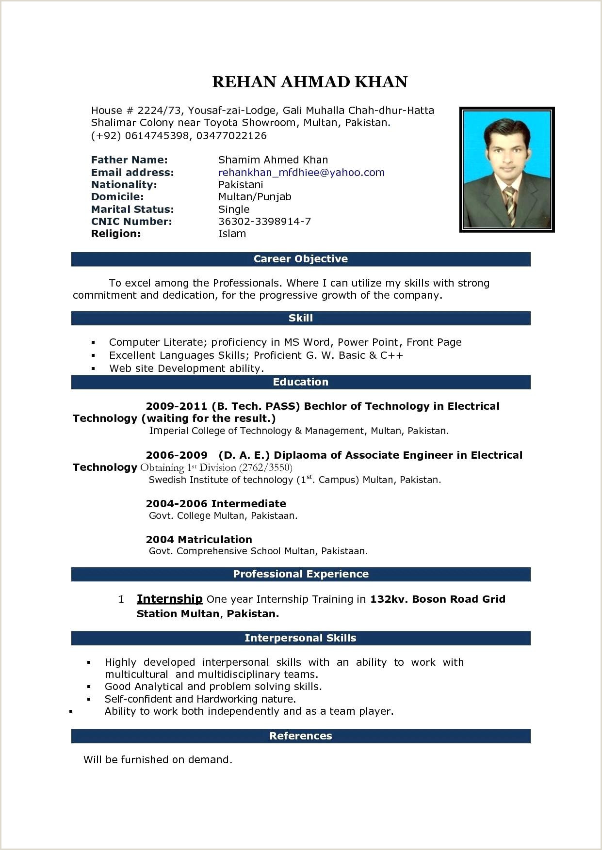 Fresher Resume format for B.tech Civil Resume Samples Freshers Engineers Pdf Valid 38 Beautiful