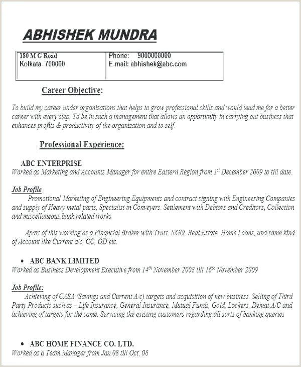 Fresher Resume format for Banking Awesome Free Education Resume Template Download Engineering
