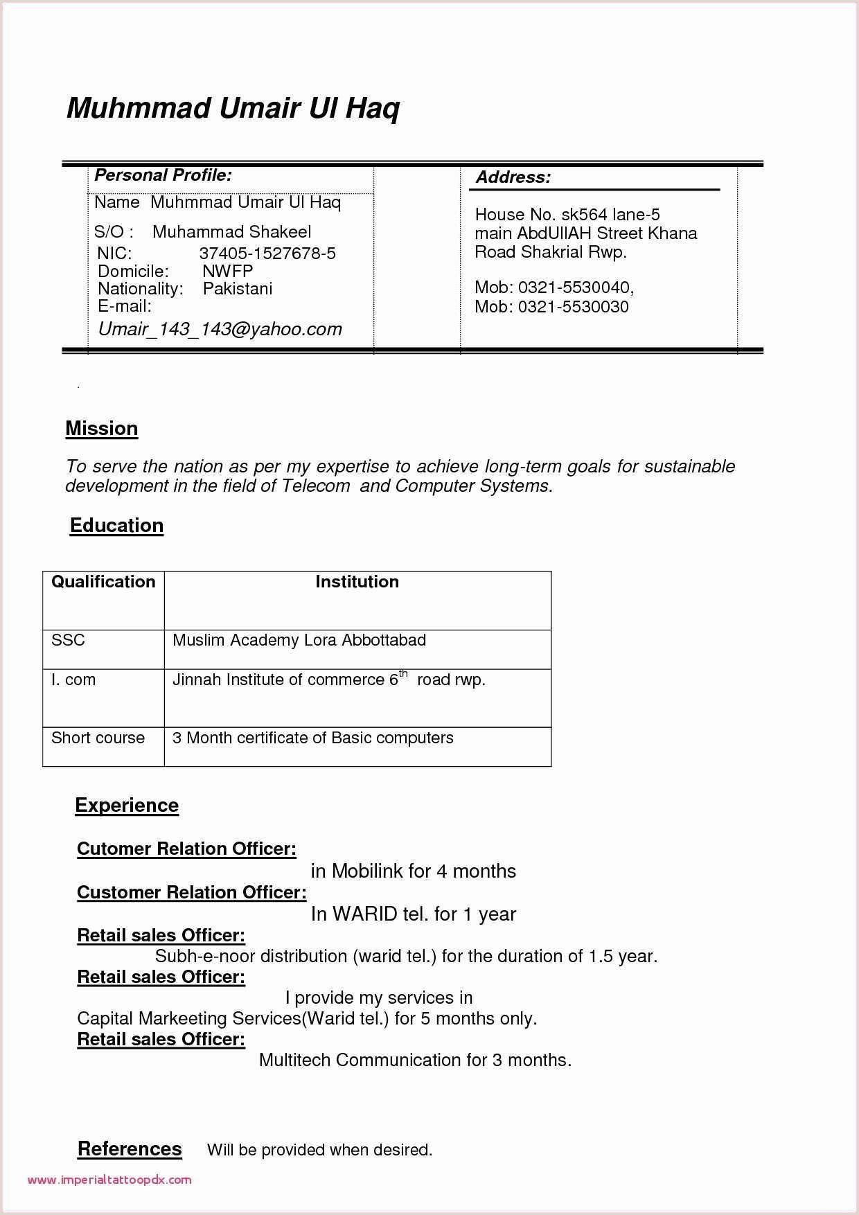 Fresher Resume Format For Bcom Sample Resume Painter Archives Wattweiler Org Valid Sample