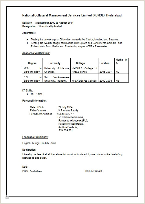 Fresher Resume Format For Bsc Chemistry Essay English Writing Tutoring