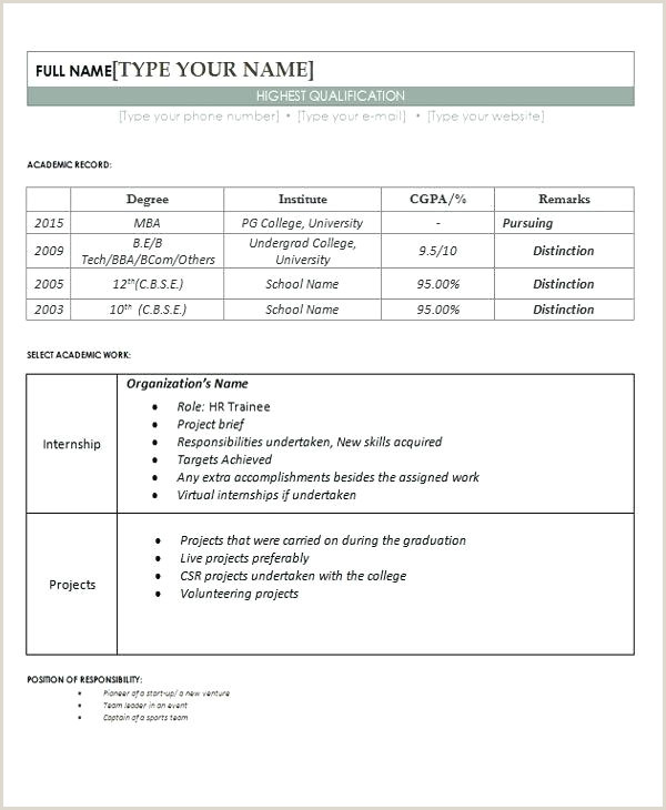 Fresher Resume Format For Bsc Chemistry Freshers Resume Samples – Growthnotes