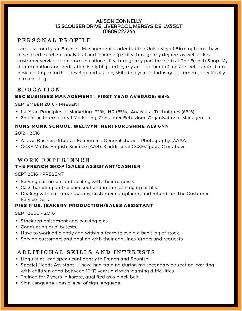 Fresher Resume format for Bsc Maths 8 9 Curriculum Vitae Skills Examples Crystalray Resume Samples
