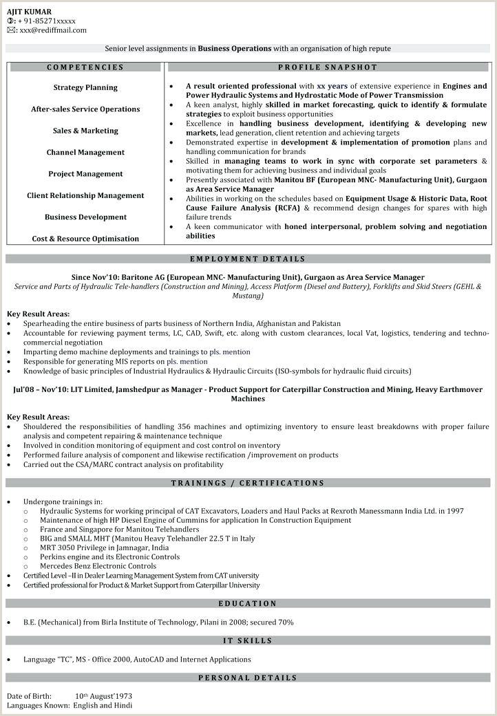 Fresher Resume format for Business Development Resume format for – Wikirian
