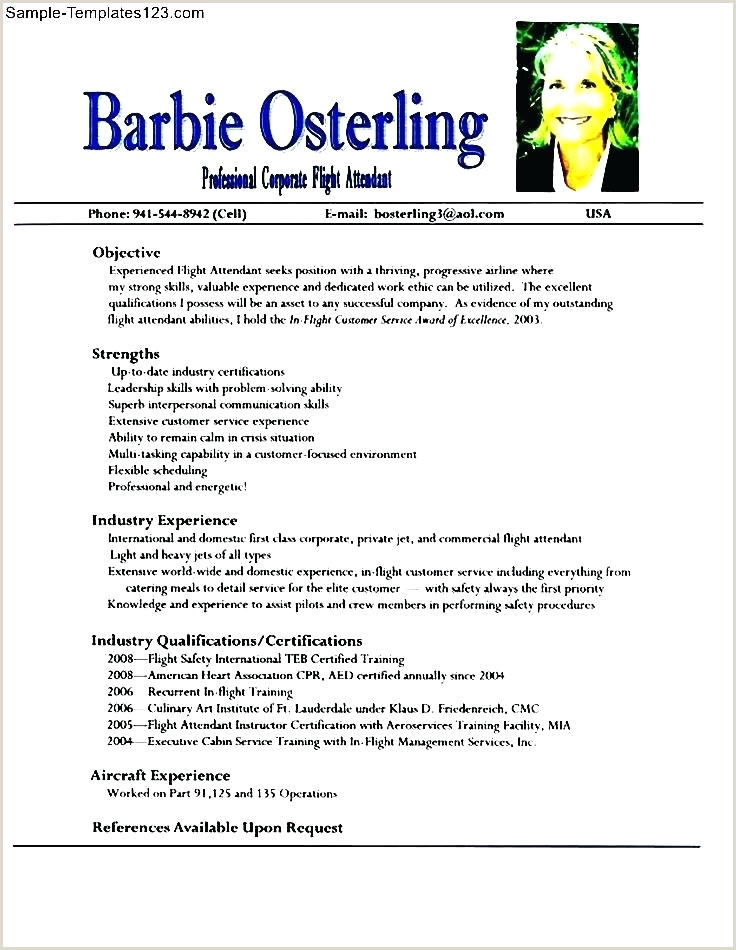 Fresher Resume format for Cabin Crew Flight attendant Resume Template – Growthnotes