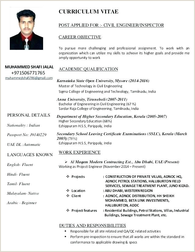 Fresher Resume Format For Civil Engineer Civil Engineering Resume Formats – Emelcotest