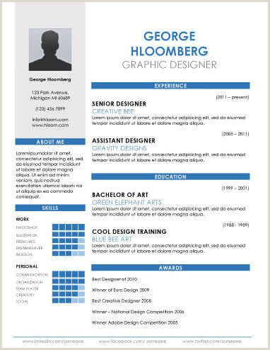 Fresher Resume format for Commerce Graduate 17 Infographic Resume Templates [free Download]